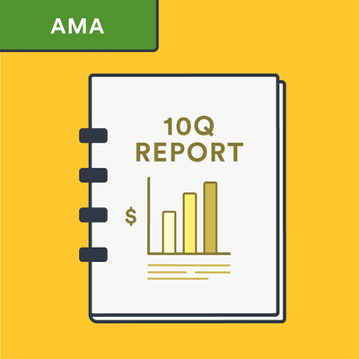 AMA 10-q report citation