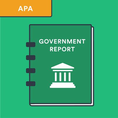 APA government report citation