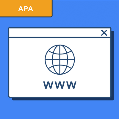 APA citation style guide: websites
