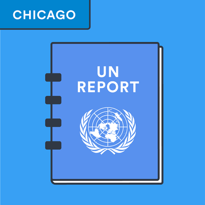 Chicago style UN report citation