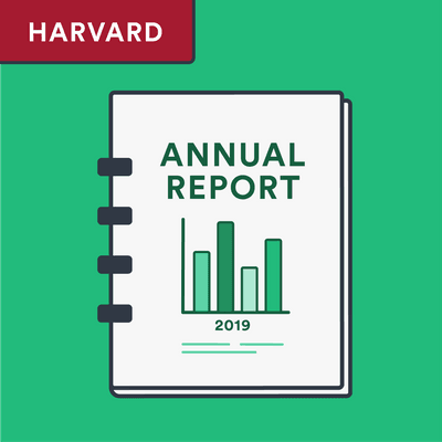 Harvard annual report citation